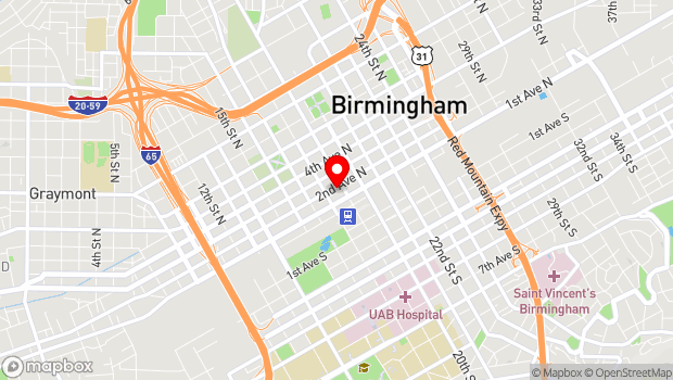 Google Map of 120 19th street N, Birmingham, AL 35203