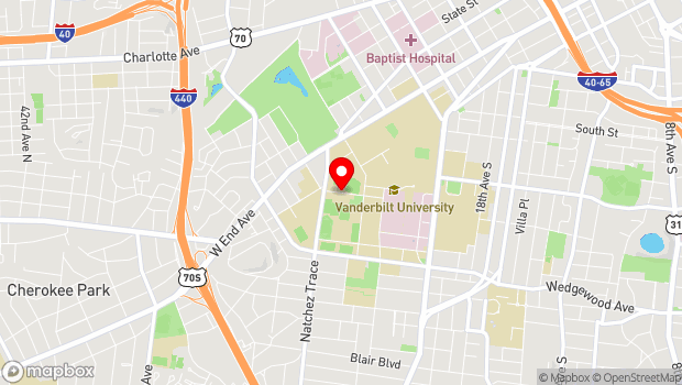 Google Map of 2600 Jess Neely Drive, Nashville, TN 37212