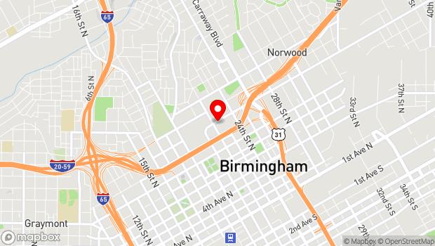 Google Map of 2221 Richard Arrington Jr. Blvd North, Birmingham, AL 35203