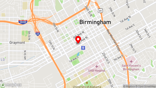 Google Map of 112 18th Street North, Birmingham, AL 35203