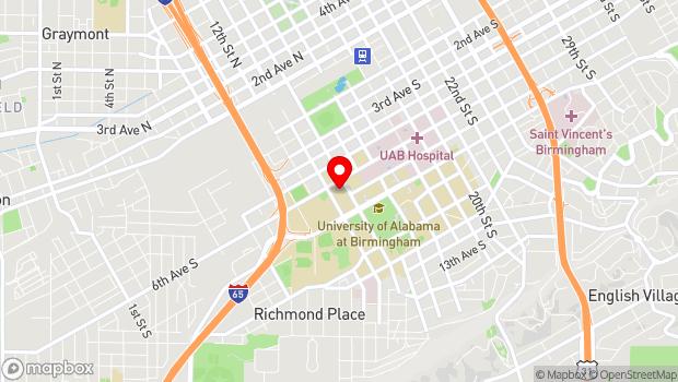 Google Map of 617 13th Street S, Birmingham, AL 35294