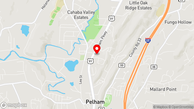 Google Map of 2969 Pelham Parkway, Pelham, AL 35124