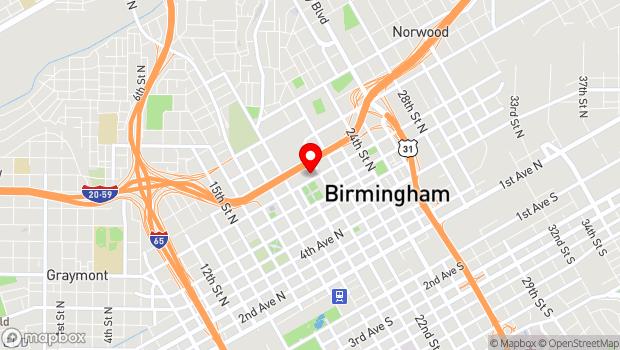 Google Map of 2000 Rev. Abraham Woods, Jr. Blvd, Birmingham, AL 35203