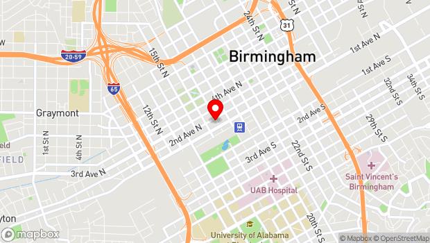 Google Map of 1623 2nd Ave N, Birmingham, AL 35203