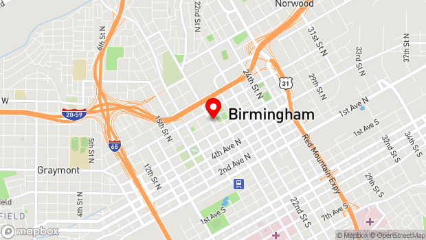 Google Map of 710 20th Street North, Birmingham, AL 35203