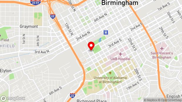 Google Map of 114 14th Street South, Birmingham, AL 35233