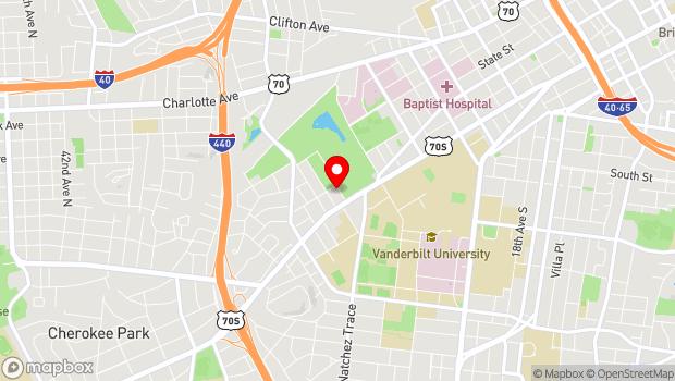 Google Map of 115 27th Avenue North, Nashville, TN 37203