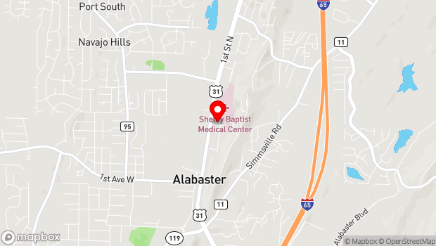 Google Map of 122 7th Avenue Northeast, Alabaster, AL 35007