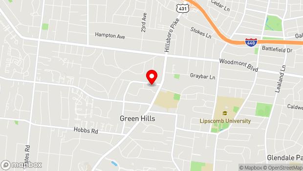Google Map of 2120 Crestmoor Road Suite 2008, Nashville, TN 37215