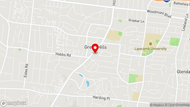 Google Map of 4104 Hillsboro Road, Nashville, TN 37215