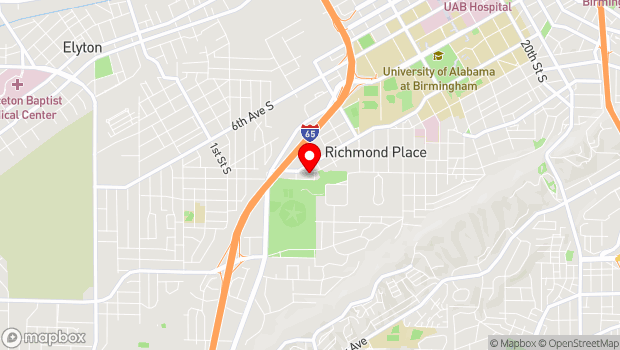 Google Map of 425 16th Avenue S, Birmingham, AL 35205