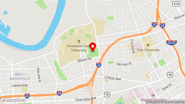 Google Map of 1037 28th Ave North, Nashville, TN 37208