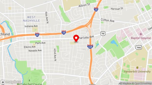 Google Map of 3701 Park Ave Nashville, TN 37209, Nashville, TN 37209