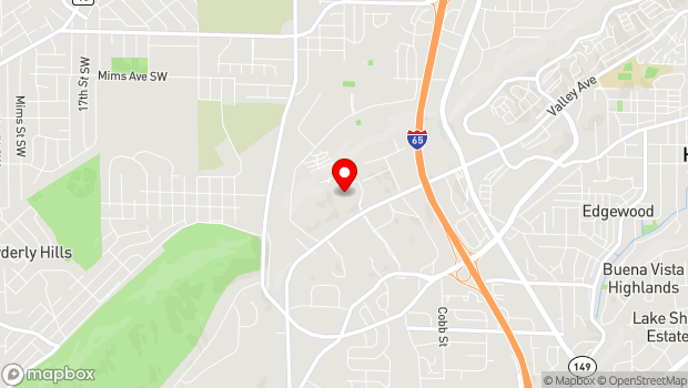 Google Map of 4300 Hampton Heights Dr, Birmingham, AL 35209