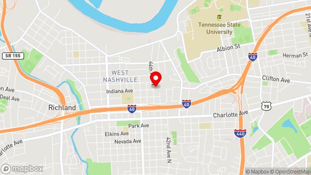 Google Map of 800 44th Avenue North, Nashville, TN 37209