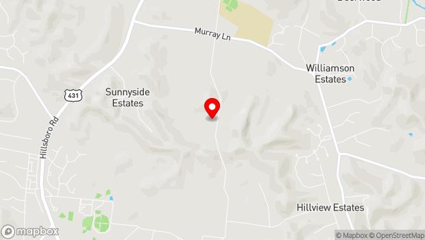 Google Map of 545 Beech Creek Road, Brentwood, TN 37027