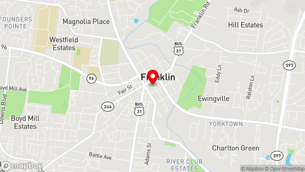 Google Map of 120 Fourth Avenue South, Franklin, TN 37064
