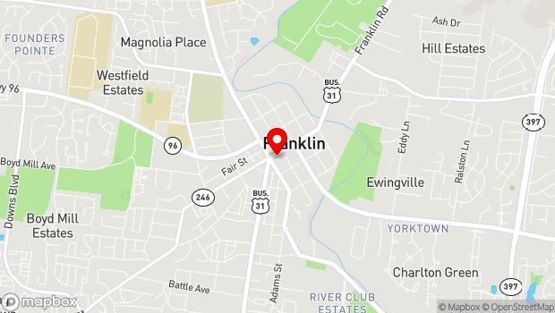 Google Map of 419 Main Street, Franklin, TN 37064