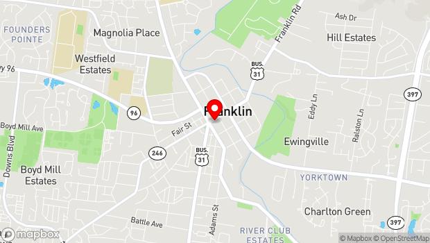 Google Map of 419 Main Street, Franklin, TN 37064