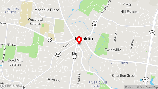 Google Map of 125 5th Ave. South, Franklin, TN 37064