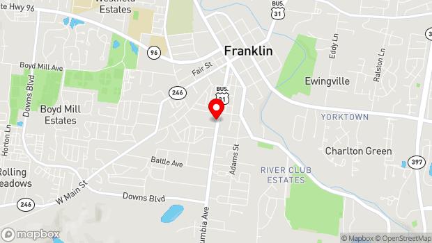Google Map of 1140 Columbia Avenue, Franklin, TN 37064