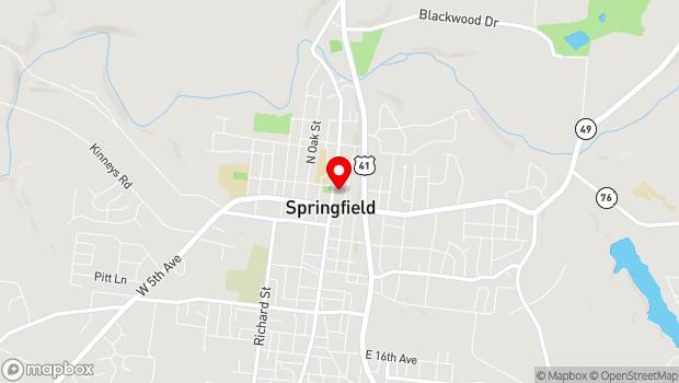 Google Map of 400 North Main Street, Springfield, TN 37172