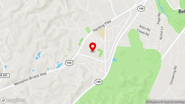Google Map of 801 Percy Warner Boulevard, Nashville, TN 37205