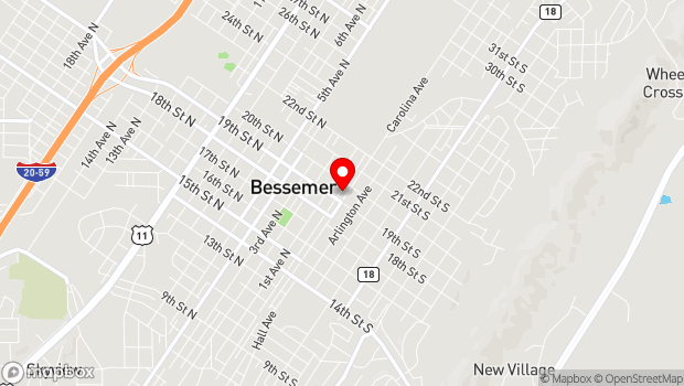 Google Map of 1905 Alabama Avenue, Bessemer, AL 35020