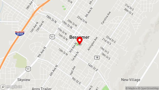 Google Map of 1623 Second Avenue North, Bessemer, AL 35020