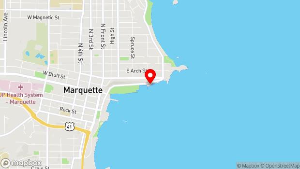Google Map of 270 E Lakeshore Blvd., Marquette, MI 49855