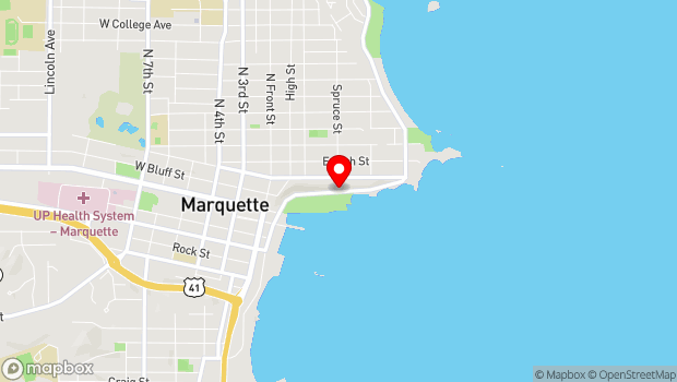Google Map of 200 Lake Shore Blvd, Marquette, MI 49855