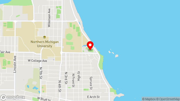 Google Map of 401 East Fair Street, Marquette, MI 49855