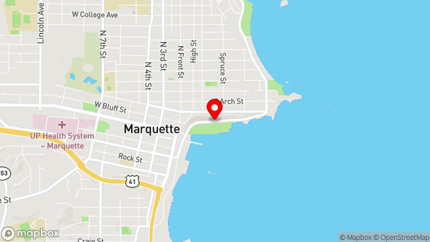 Google Map of 100-174 N. Lakeshore Blvd., Marquette, MI 49855