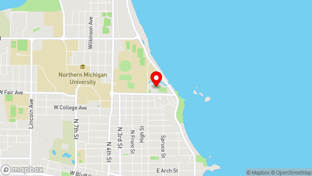 Google Map of 1420 Pine st., Marquette, MI 49855