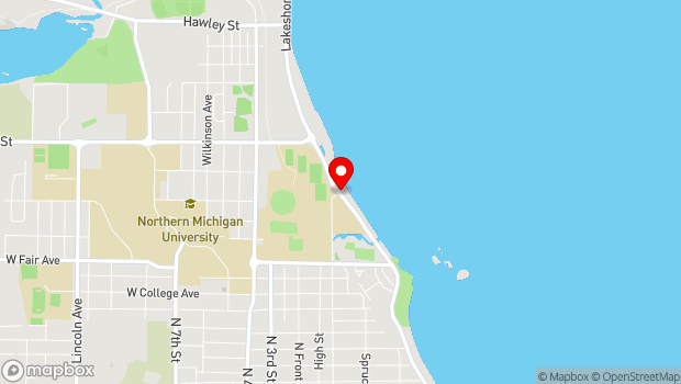 Google Map of North Lakeshore Boulevard, Marquette, MI 49855
