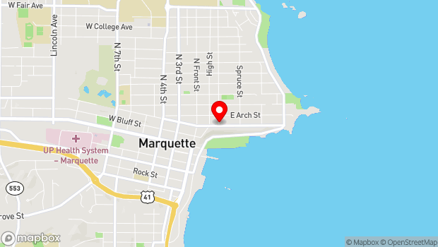 Google Map of 316 Pine St., Marquette, MI 49855