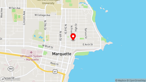 Google Map of 131 E. Michigan, Marquette, MI 49855