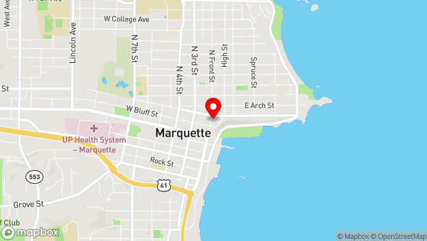 Google Map of 230 N. Front Street, Marquette, MI 49855