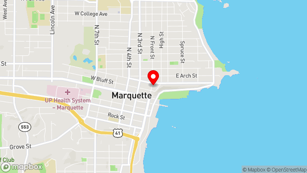 Google Map of 230 North Front Street, Marquette, MI 49855