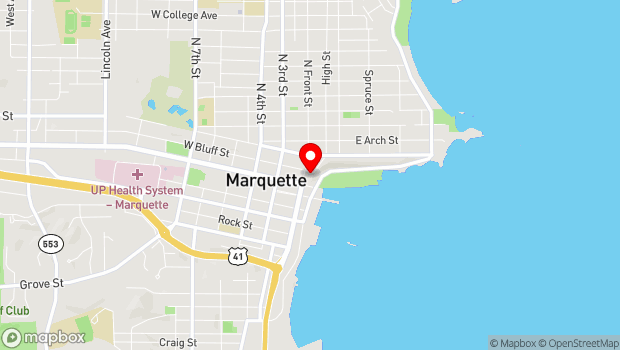Google Map of 120 N. Front Street, Marquette, MI 49855