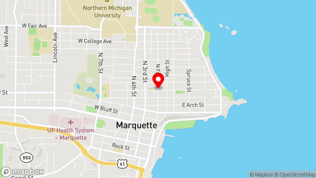 Google Map of 611 N Front Street, Marquette, MI 49855