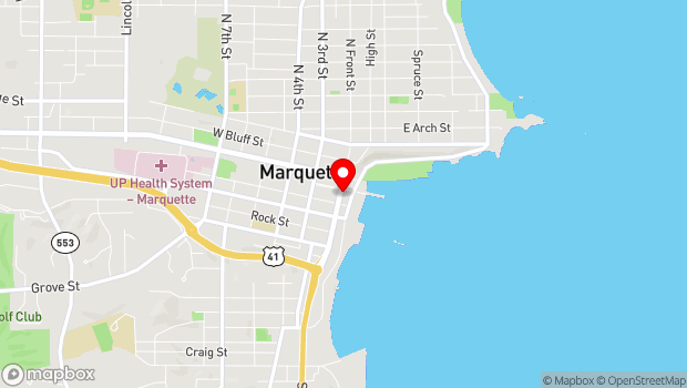 Google Map of 205 S Front St, Marquette, MI 49855