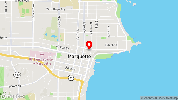 Google Map of 217 N. Front Street, Marquette, MI 49855