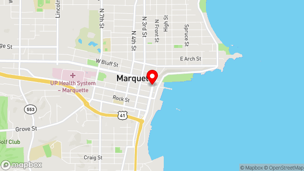 Google Map of 200 Block, S. Front St., Marquette, MI 49855