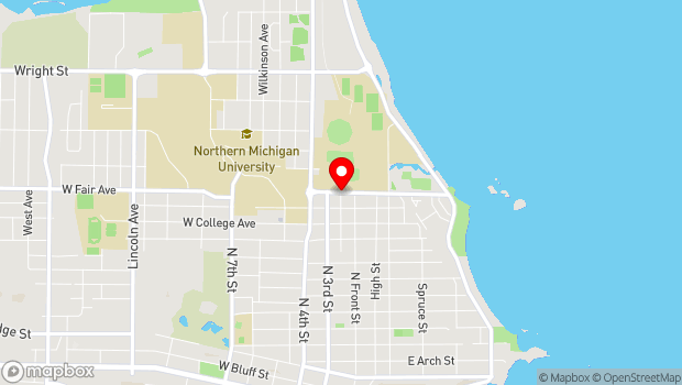 Google Map of 100-198 West Fair Avenue, Marquette, MI 49855