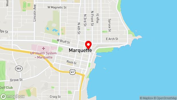 Google Map of 118 W Washington St, Marquette, MI 49855
