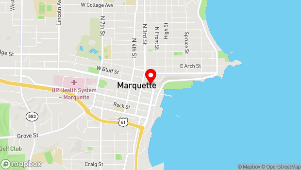 Google Map of 118 W Washington, Marquette, MI 49855