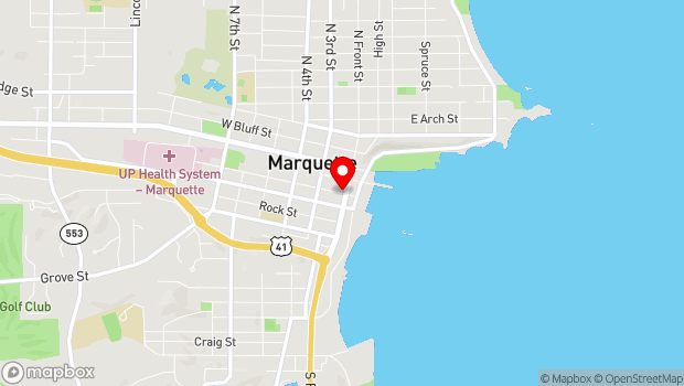 Google Map of 114 Spring Street, Marquette, MI 49855
