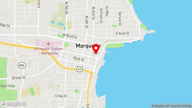 Google Map of 123 West Spring Street, Marquette, MI 49855