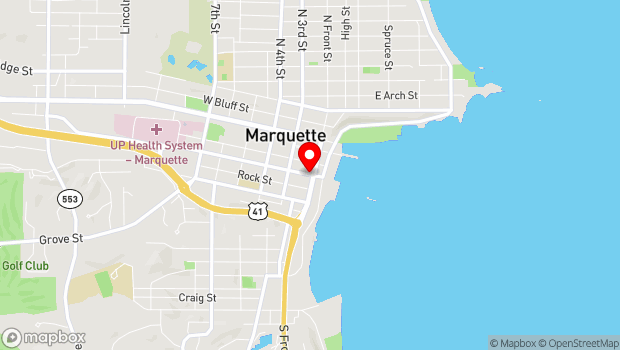 Google Map of 129 West Barage Avewnue, Marquette, MI 49855